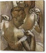 Two Dancers Adjusting Their Shoulder Straps Canvas Print