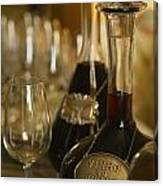 Two Decanters Of Port Wine And Glasses Canvas Print