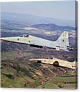 Two F-5e Tiger IIs In Flight Canvas Print