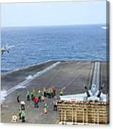 Two Fa-18 Hornets Take Canvas Print