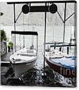 Two Hanging Boats Canvas Print