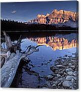 Two Jack Lake Banff Canada Canvas Print