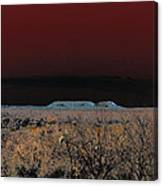 Two Mesas And Thorn Scrub Canvas Print