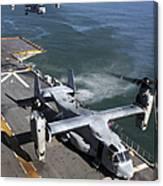 Two Mv-22 Ospreys Land On The Flight Canvas Print