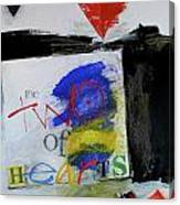 Two Of Hearts 37-52 Canvas Print
