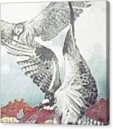 Two Ospreys Canvas Print
