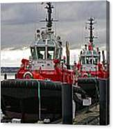 Two Red Tugs Canvas Print