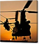 Two Royal Air Force Ch-47 Chinooks Take Canvas Print