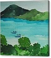 Two Schooner's Canvas Print