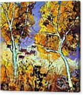 Two Trees In Fall Canvas Print