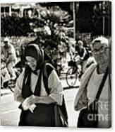 Two Women In Rovinj 2 Canvas Print