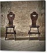 Two Wooden Chairs Canvas Print