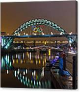 Tyne Bridge At Night Canvas Print