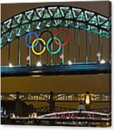 Tyne Bridge At Night II Canvas Print
