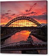 Tyne Bridges At Sunrise IIi Canvas Print