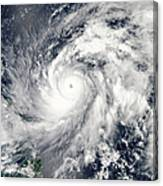 Typhoon Sanba Over The Pacific Ocean Canvas Print