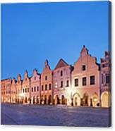 Typical Houses And The Castle Canvas Print