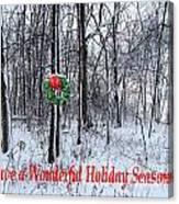 Tyra's Woods At Christmas Canvas Print