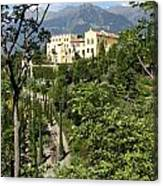 Tyrolean Alps And Palace Canvas Print