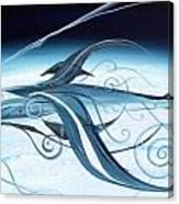 U2 Spyfish - Spy Plane As Abstract Fish - Canvas Print