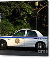 Uc Berkeley Campus Police Car  . 7d10178 Canvas Print