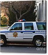 Uc Berkeley Campus Police Suv  . 7d10182 Canvas Print