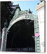Uc Berkeley . Sproul Plaza . Sather Gate . 7d10035 Canvas Print