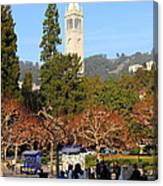 Uc Berkeley . Sproul Plaza . Sather Gate . 7d9998 Canvas Print