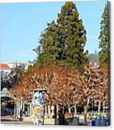 Uc Berkeley . Sproul Plaza . Sather Gate And Campanile Tower . 7d9996 Canvas Print