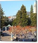 Uc Berkeley . Sproul Plaza . Sather Gate And Sather Tower Campanile . 7d10000 Canvas Print