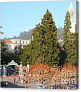 Uc Berkeley . Sproul Plaza . Sather Gate And Sather Tower Campanile . 7d10015 Canvas Print