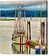 Ucluelet Harbour Hdr Canvas Print
