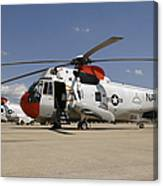 Uh-3h Sea King Helicopters Based Canvas Print