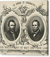 Ulyssess S Grant And Schuyler Colfax Republican Campaign Poster Canvas Print