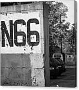 Un Sector 2 City Troop And Post Un66 In The Restricted Area Of The Un Buffer Zone Nicosia Cyprus Canvas Print