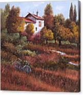 Una Bicicletta Nel Bosco Canvas Print