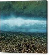 Under An Ocean Wave Canvas Print
