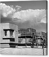 Under Construction Bw Palm Springs Canvas Print