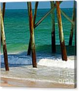 Under The Boardwalk Canvas Print
