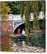 Under The Bow Bridge Central Park Canvas Print