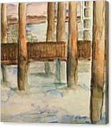 Under The Docks Canvas Print