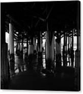 Under The Old Boardwalk Canvas Print
