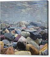 Under The Water In Glacier  Canvas Print