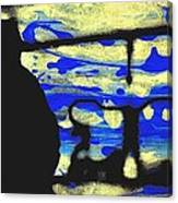 Underground - People Silhouette Serigraphic Arts Canvas Print