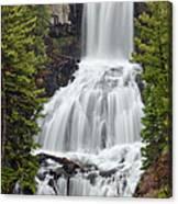 Undine Falls Yellowstone National Park Canvas Print