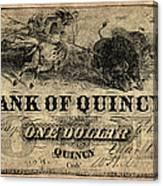 Union Banknote, 1861 Canvas Print
