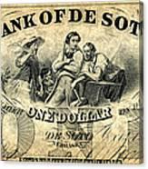 Union Banknote, 1863 Canvas Print