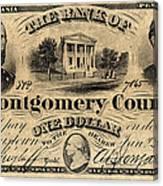 Union Banknote, 1865 Canvas Print