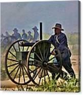 Union Gatling Gun Fire Canvas Print