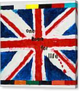 Union Jack One Team For Life Canvas Print